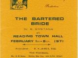 The Bartered Bride programme